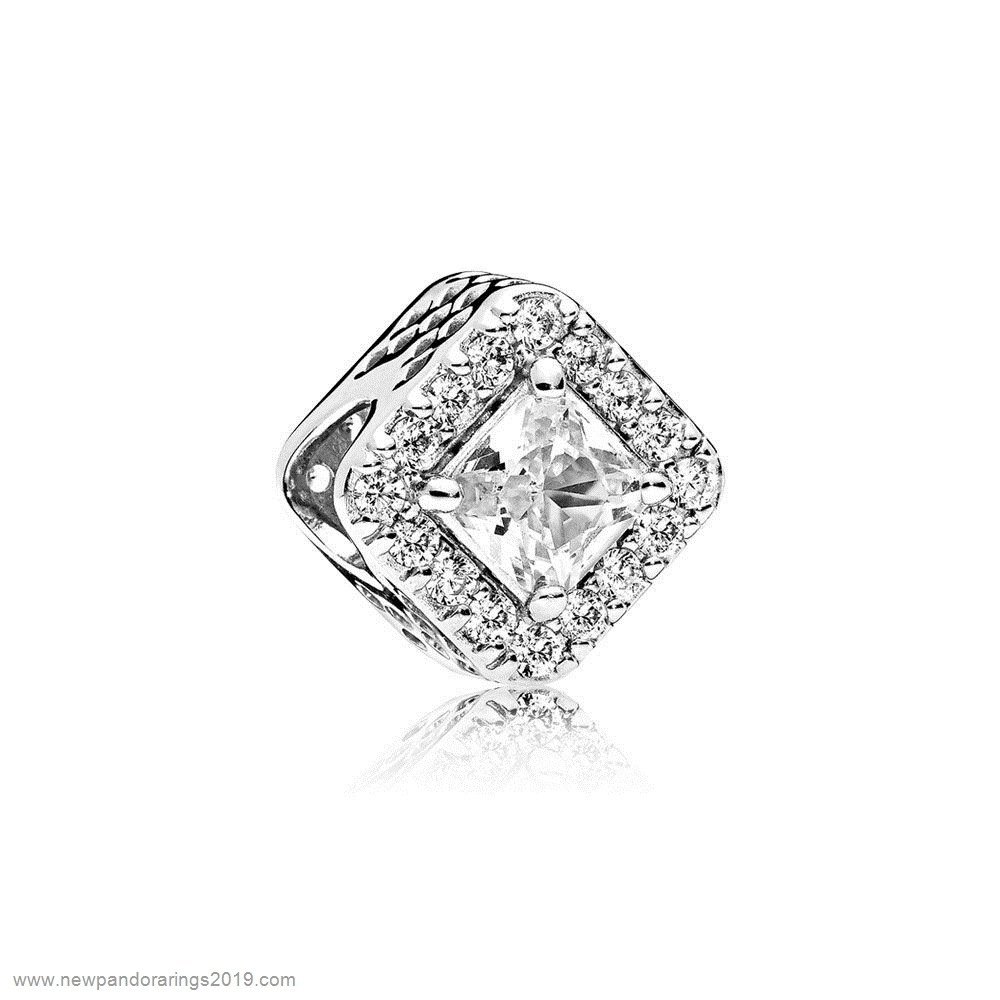 Pandora Store Website Pandora Contemporary Charms Geometric Radiance Charm Clear Cz