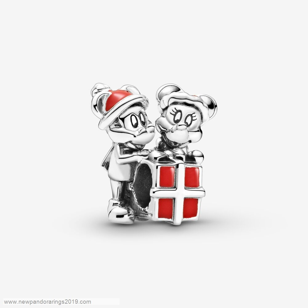 Pandora Store Website Disney Mickey Mouse And Minnie Mouse Present Charm