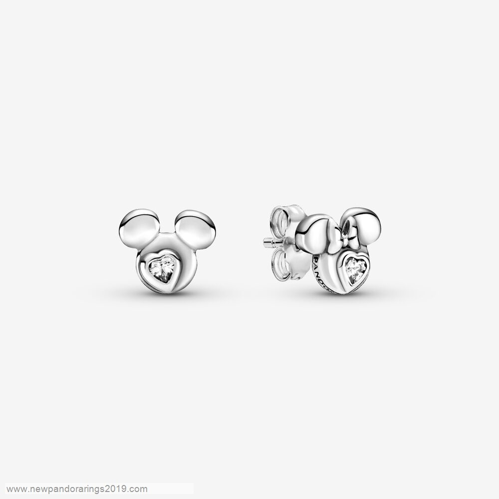 Pandora Store Website Disney Mickey Mouse & Minnie Mouse Silhouette Stud Earrings