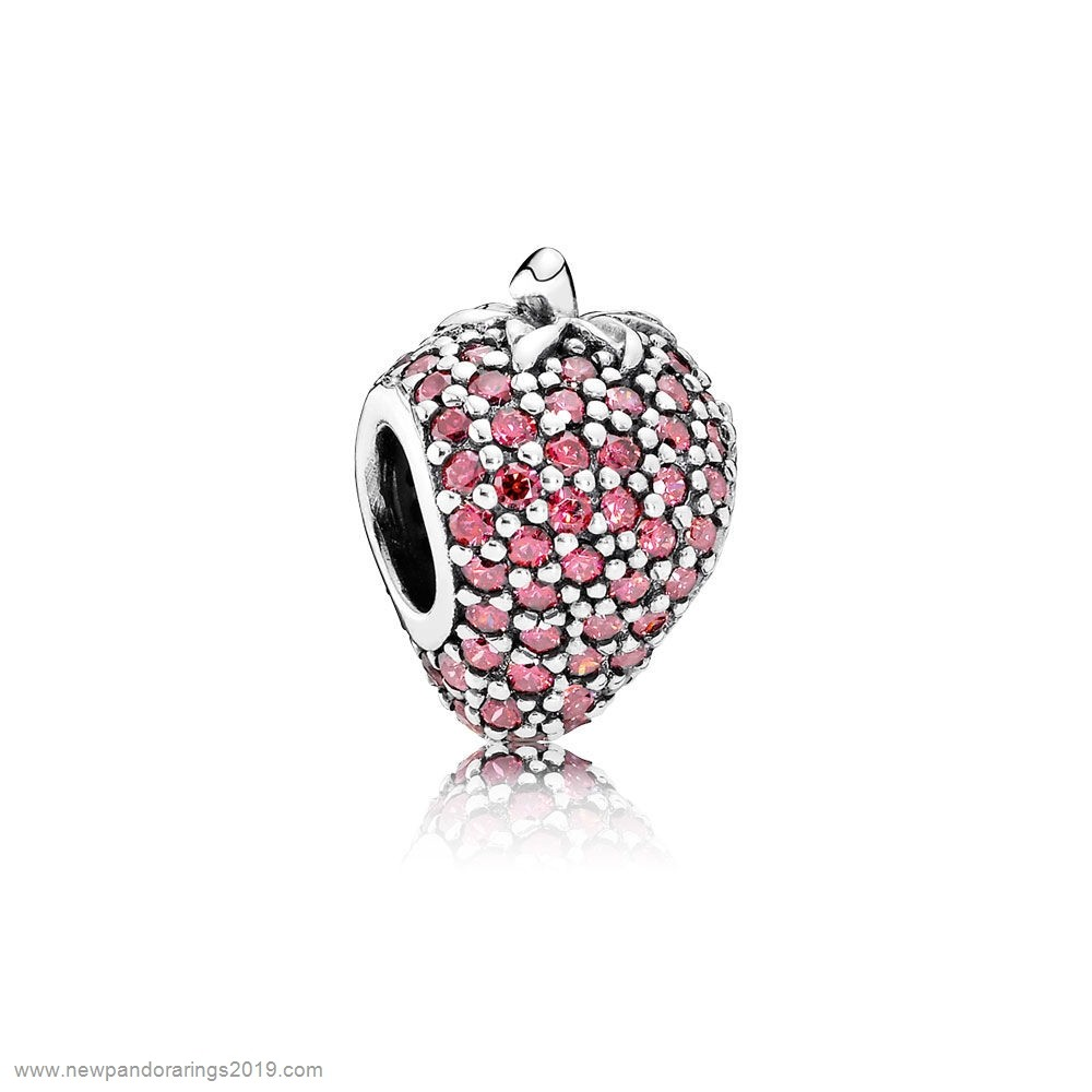 Pandora Store Website Pandora Nature Charms Pave Strawberry Charm Red Cz