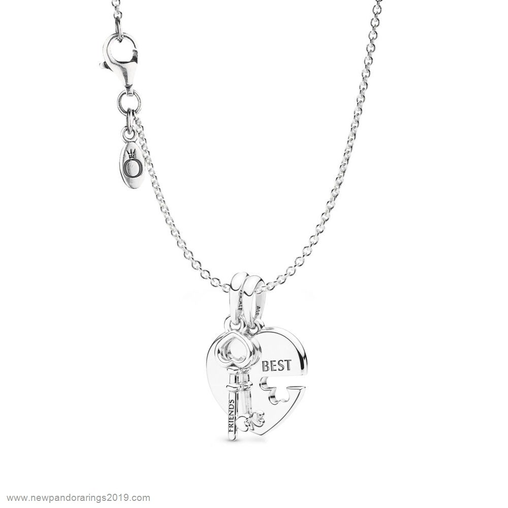 Pandora Store Website Best Friends Heart & Key Necklace Set