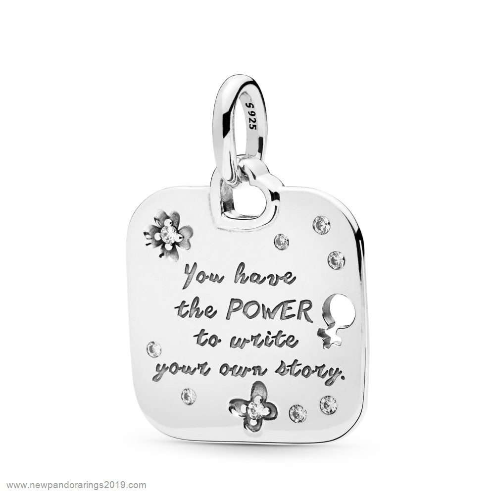 Pandora Store Website Female Empowerment Motto Pendant