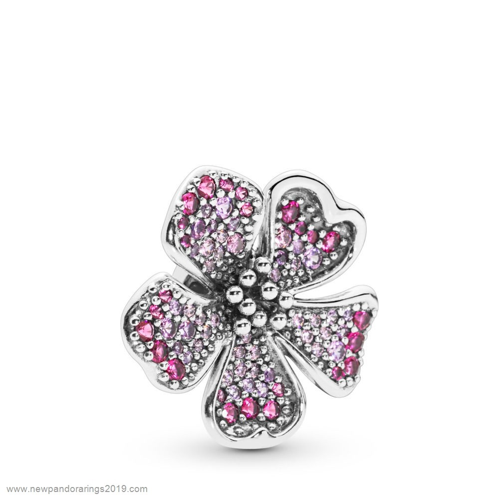 Pandora Store Website Big Peach Blossom Flower Charm