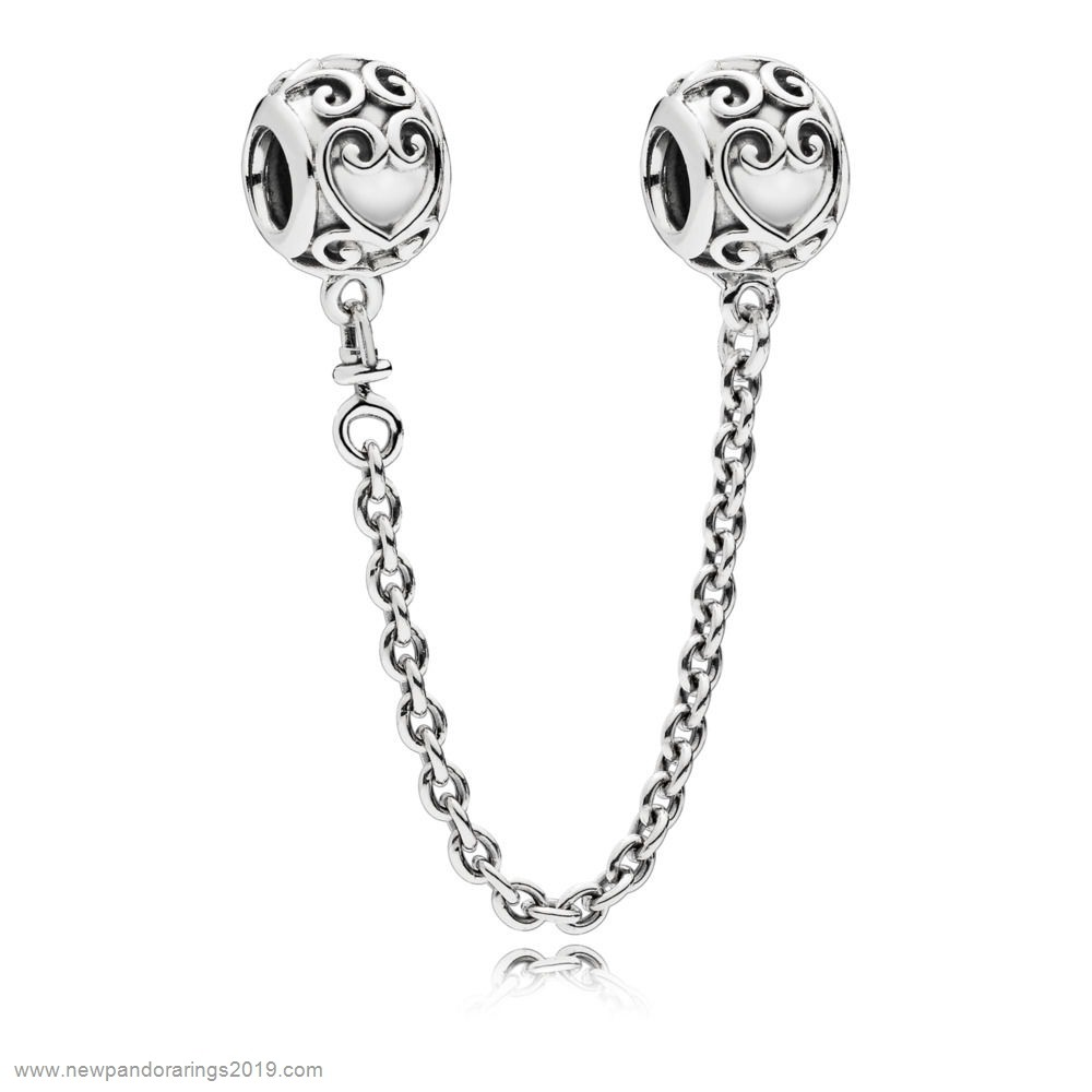 Pandora Store Website Enchanted Heart Safety Chain