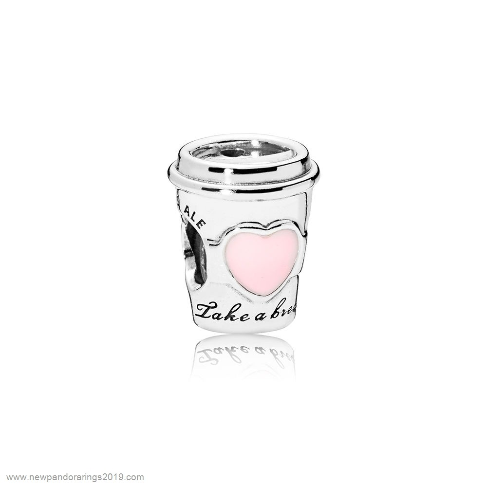 Pandora Store Website Drink To Go Charm Pink Enamel