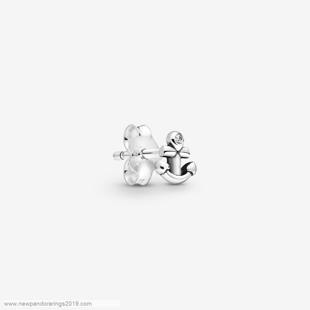 Pandora Store Website My Anchor Single Stud Earring
