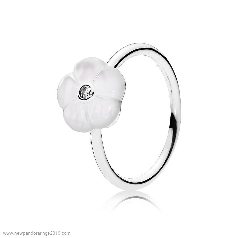 Pandora Store Website Pandora Rings Luminous Florals Ring Mother Of Pearl Clear Cz