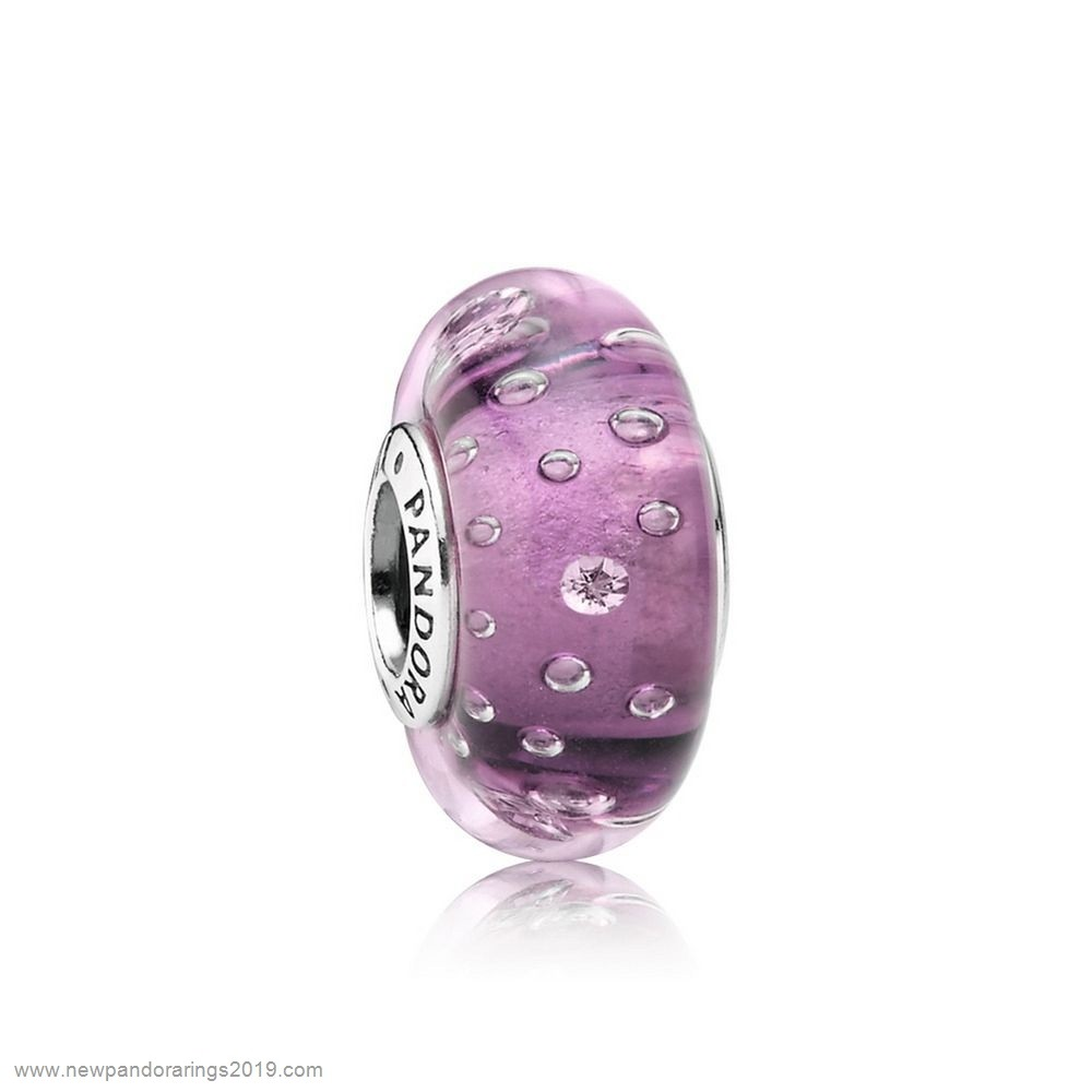 Pandora Store Website Pandora Touch Of Color Charms Purple Effervescence Charm Murano Glass Clear Cz