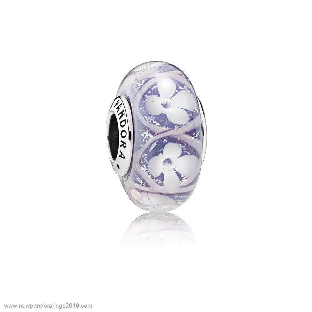 Pandora Store Website Pandora Touch Of Color Charms Purple Field Of Flowers Charm Murano Glass